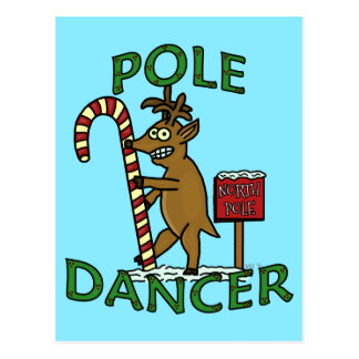 Funny Dancer Christmas Reindeer Pun Postcard