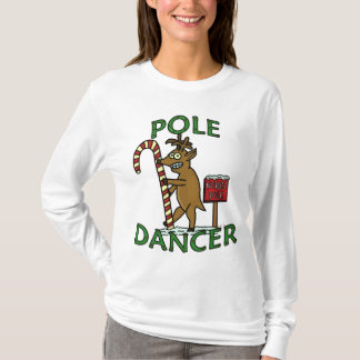 Funny Dancer Christmas Reindeer Pun T-Shirt