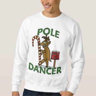 Funny Dancer Christmas Reindeer Pun Ugly Sweatshirt