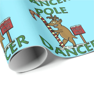 Funny Dancer Christmas Reindeer Pun Wrapping Paper