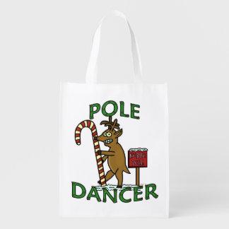 Funny Dancer Christmas Reindeer Pun Market Totes