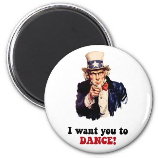 Funny dancing 2 inch round magnet