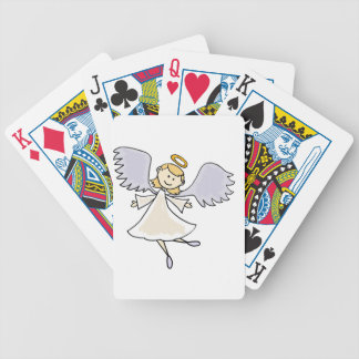 Funny Dancing Angel Cartoon Bicycle Playing Cards