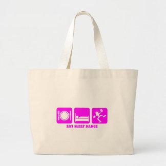 Funny dancing tote bags