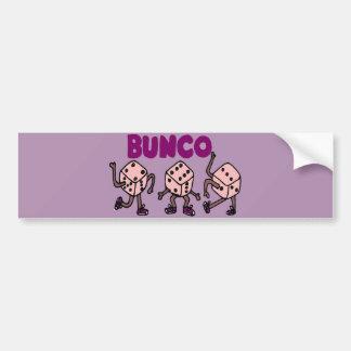 Funny Dancing Bunco Dice Bumper Sticker