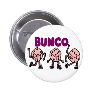 Funny Dancing Bunco Dice Pinback Button