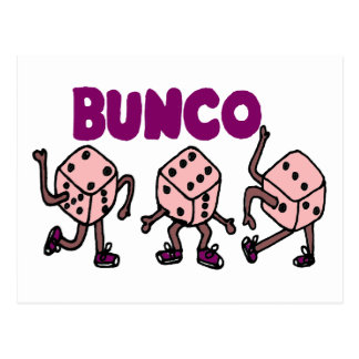 Funny Dancing Bunco Dice Postcard