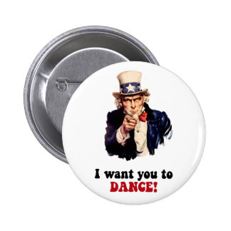 Funny dancing 2 inch round button