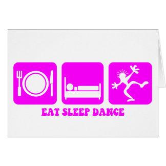 Funny dancing card