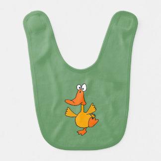 Funny Dancing Duck Baby Bib