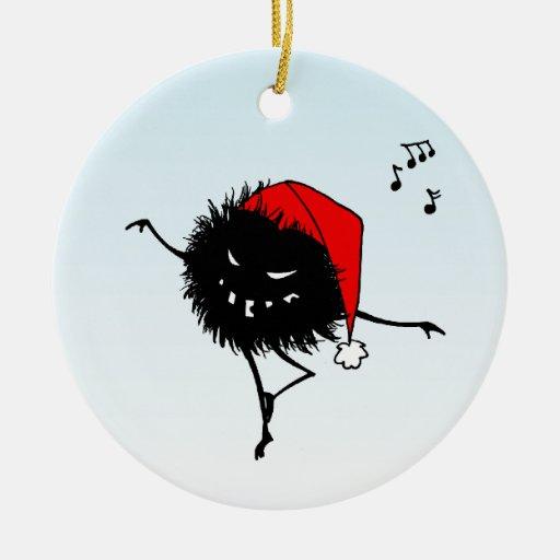 Funny Dancing Evil Christmas Bug Ceramic Ornament