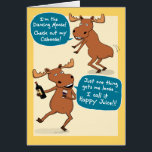 """Funny Dancing Moose Birthday Card<br><div class=""""desc"""">Here&#39;s a funny birthday card featuring a dancing moose who might have had a little too much wine. But what a dancer! From the creator of popular webcomic Captain Scratchy! &#169;2015 Chuck Ingwersen</div>"""