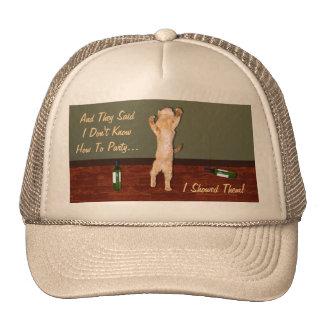 Funny Dancing Orange Party Cat Trucker Hat
