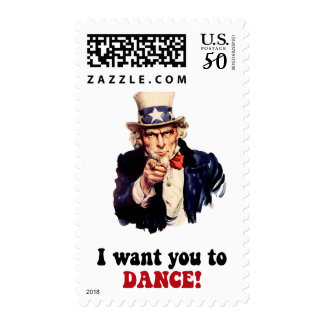 Funny dancing postage