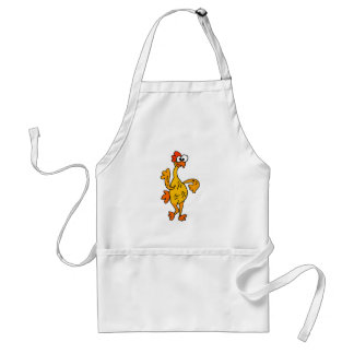 Funny Dancing Rubber Chicken Adult Apron