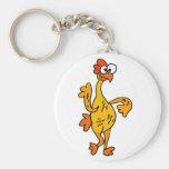 Funny Dancing Rubber Chicken Basic Round Button Keychain