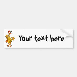 Funny Dancing Rubber Chicken Bumper Sticker