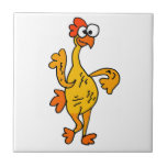 Funny Dancing Rubber Chicken Ceramic Tile