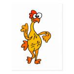 Funny Dancing Rubber Chicken Postcard