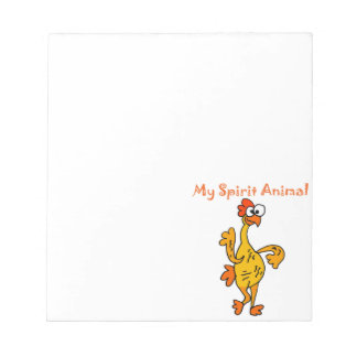 Funny Dancing Rubber Chicken Spirit Guide Notepad