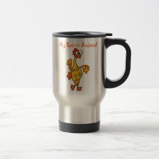 Funny Dancing Rubber Chicken Spirit Guide Travel Mug