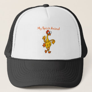 Funny Dancing Rubber Chicken Spirit Guide Trucker Hat