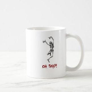 Funny Dancing Skeleton Oh Snap Coffee Mug