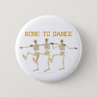 Funny Dancing Skeletons Bone To Dance Cartoon Button