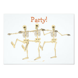 Funny Dancing Skeletons Bone To Dance Cartoon Card