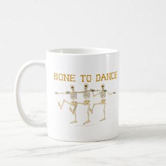 Funny Dancing Skeletons Bone To Dance Cartoon Coffee Mug