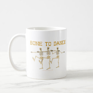 Funny Dancing Skeletons Bone To Dance Cartoon Coffee Mugs