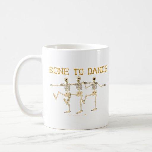 Funny Dancing Skeletons Bone To Dance Cartoon Classic White Coffee Mug