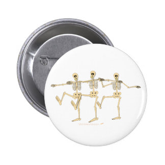 Funny Dancing Skeletons Halloween Cartoon 2 Inch Round Button