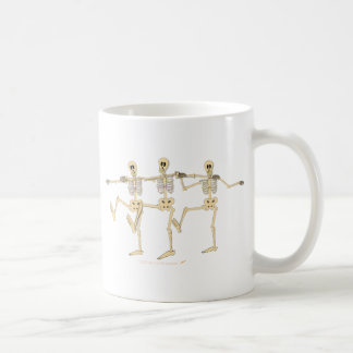Funny Dancing Skeletons Halloween Cartoon Coffee Mug