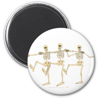 Funny Dancing Skeletons Halloween Cartoon Refrigerator Magnets