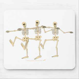 Funny Dancing Skeletons Halloween Cartoon Mouse Pad