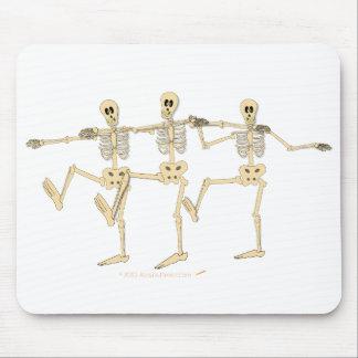 Funny Dancing Skeletons Halloween Cartoon Mouse Pad