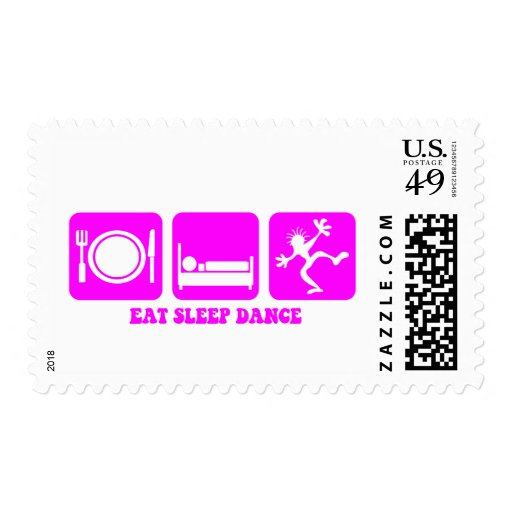 Funny dancing stamps