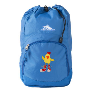 Funny Dancing Yellow Chicken Backpack