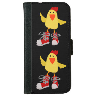 Funny Dancing Yellow Chicken iPhone 6/6s Wallet Case