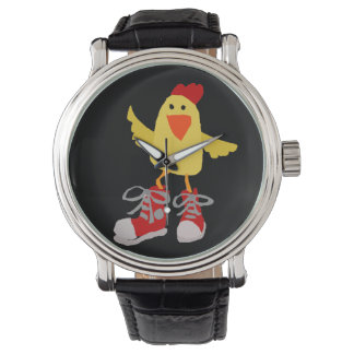 Funny Dancing Yellow Chicken Wristwatches