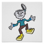 funny dancing zombie poster