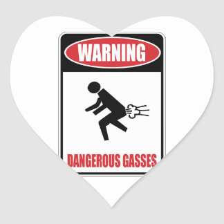 Funny Dangerous Gasses Heart Sticker