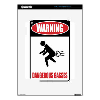 Funny Dangerous Gasses iPad 2 Decals