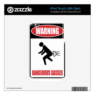 Funny Dangerous Gasses iPod Touch 4G Decals