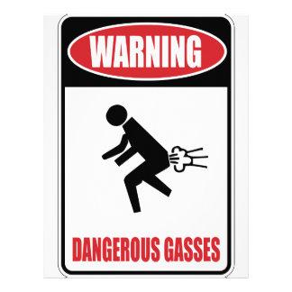 Funny Dangerous Gasses Letterhead