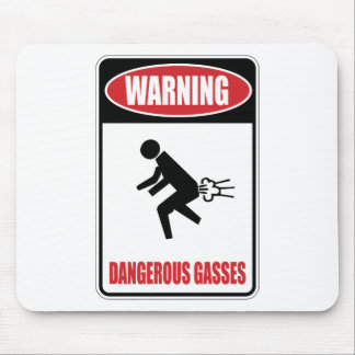 Funny Dangerous Gasses Mouse Pad