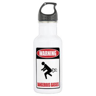 Funny Dangerous Gasses 18oz Water Bottle