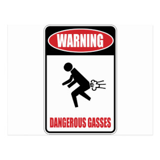 Funny Dangerous Gasses Postcard