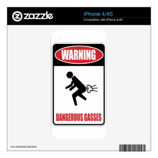 Funny Dangerous Gasses Skins For iPhone 4S